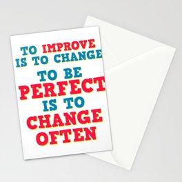 Motivational & Hilarious Improve Tshirt Design TO IMPROVE Stationery Cards