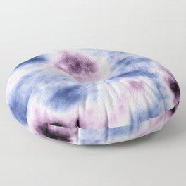 blue purple tie dye Floor Pillow