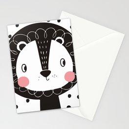 Polka Dot Lion Stationery Cards