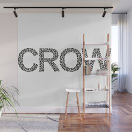 word crow from a Ffock of crows Wall Mural