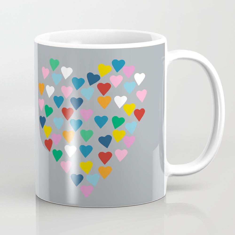 Hearts Heart Multi Grey Mug by Projectm MUG948986