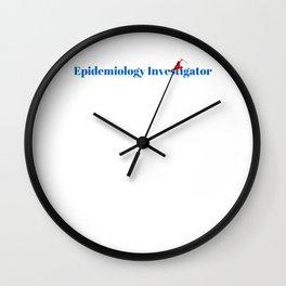 Epidemiology Investigator Ninja in Action Wall Clock