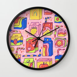 Juice Box Print Wall Clock