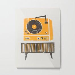 Vinyl Deck Metal Print