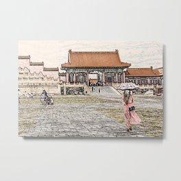 The Forbidden City China Beijing Metal Print