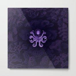 Octopus2 (Purple, Square) Metal Print