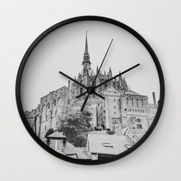 Mont Saint Michel Wall Clock