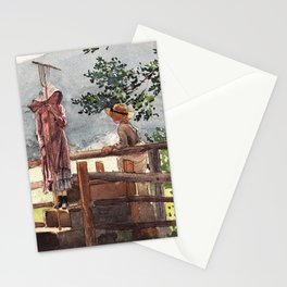 Winslow Homer1 - Spring - Digital Remastered Edition Stationery Cards
