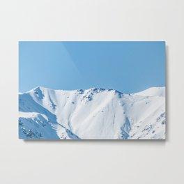 Mountain Winter Snow Landscape Nature Photography Metal Print