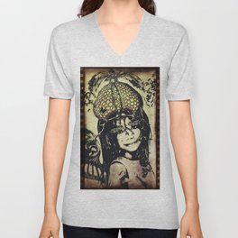 butterly girl Unisex V-Neck