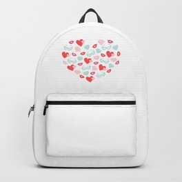 Valentines Day Heart #8 - Glasses, Diamonds, Kisses Backpack