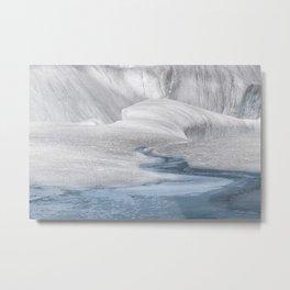 Surreal Landscape At Mendenhall Glacier, Juneau, Alaska Metal Print