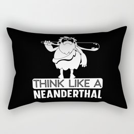 Think Like A Neanderthal Thinking Caveman American Rectangular Pillow