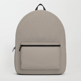 Light Taupe Gray Trending Solid Color Graham and Brown 2021 Color of the Year Accent Hue Fondue Backpack