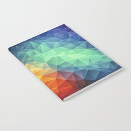 Abstract Polygon Multi Color Cubism Low Poly Triangle Design Notebook