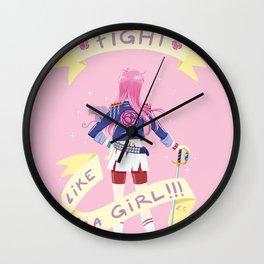 Fight like a girl 2.0 Wall Clock