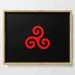 Triskele 12 -triskelion,triquètre,triscèle,spiral,celtic,Trisquelión,rotational Serving Tray