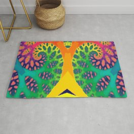 A Tree Dreaming In Color Rug