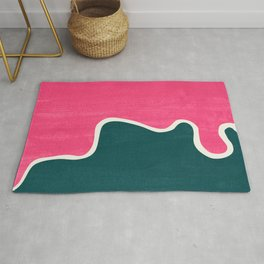 London Abstract Pink Rug