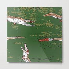 Aussie Crocodiles1 Metal Print