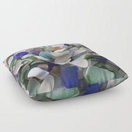 Sea Glass Assortment 2 Floor Pillow