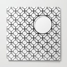 Hole in The Mesh Metal Print