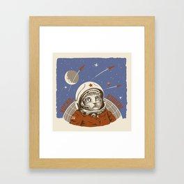 Soviet Space Cat Framed Art Print