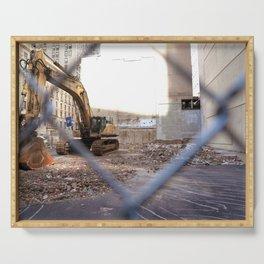 Concrete Jungle Undergoing Maintenance, New York City Serving Tray