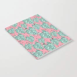 Watercolor tropical leaves pattern Notebook
