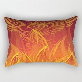 Inspiring Rebirth Of Phoenix Bird From Flames Rectangular Pillow