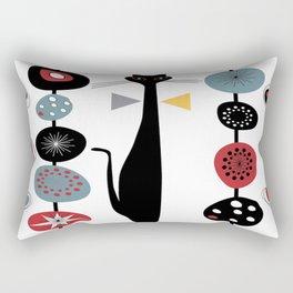 Mid-Century Modern Art Cat 1.7T Rectangular Pillow