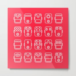 Effects pedals 5x4 red 1 Metal Print