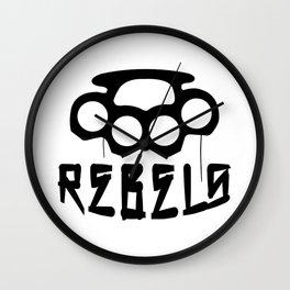 Rebels Brass Knuckles Wall Clock