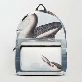 Crested grebe edit, Birds of America, Audubon Plate 292 Backpack