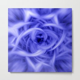 Blue Flames Metal Print