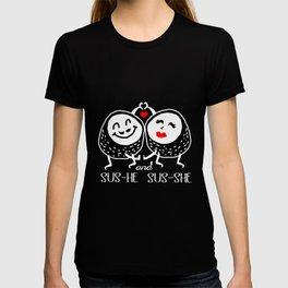 Sushi Couple Sus He Sus She Kawaii Maki Japanese T-shirt