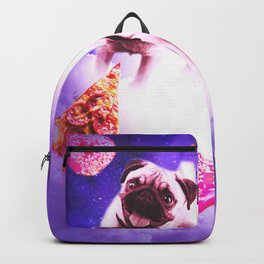 Pugs In The Clouds With Doughnut And Pizza Backpack