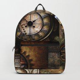Steampunk, wonderful clockwork with gears Backpack