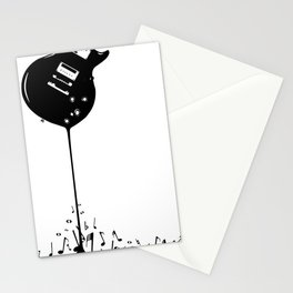 Bubbling Musical Notes Stationery Cards
