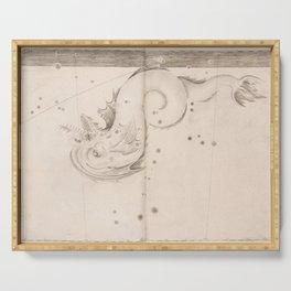 Johann Bayer - Uranometria / Measuring the Heavens (1661) - 47 Piscis Australis / Southern Fish Serving Tray