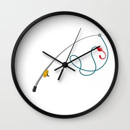 Please Hold I'm On The Other Line Fishing Wall Clock