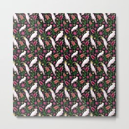 Australian Native Birds and Flowers - Bottlebrush and Cockatoo Metal Print