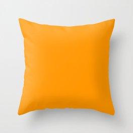 Neon Orange Throw Pillow