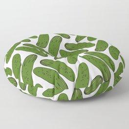 Pickles Green Cucumbers Floor Pillow