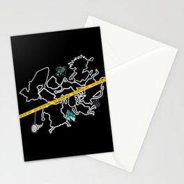 Smashing Chalk Outline Stationery Cards