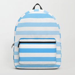 Striped BLUE and White  Backpack