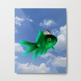 Flying Fish House Metal Print