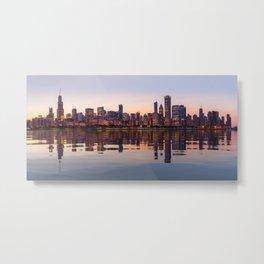 Panorama of the City skyline of Chicago Metal Print
