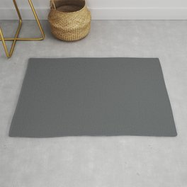 Best Seller Dark Lead Gray Solid Color Pairs w/ Behr Paint's Graphic Charcoal Rug