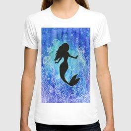 Mermaid Watercolor Underwater T-shirt
